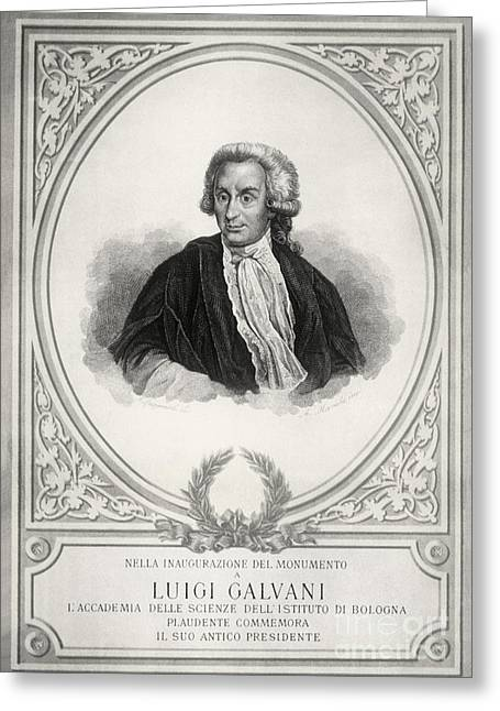Experiment Greeting Cards - Luigi Galvani, Italian Physician Greeting Card by Science Source