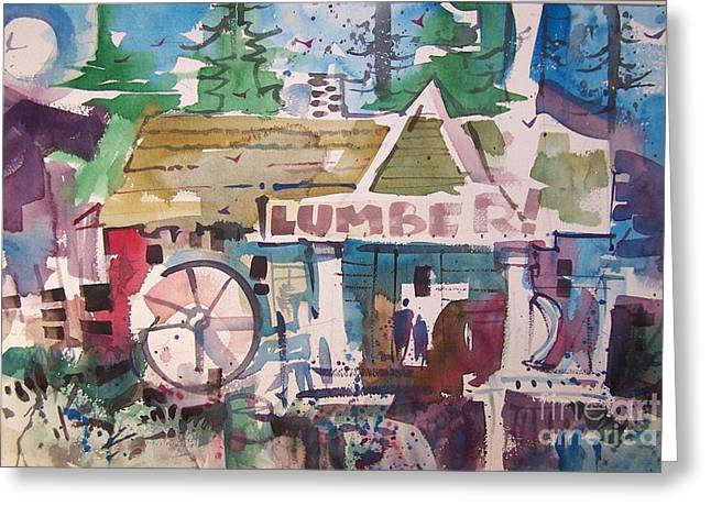 Lumber Mill Greeting Card by Micheal Jones