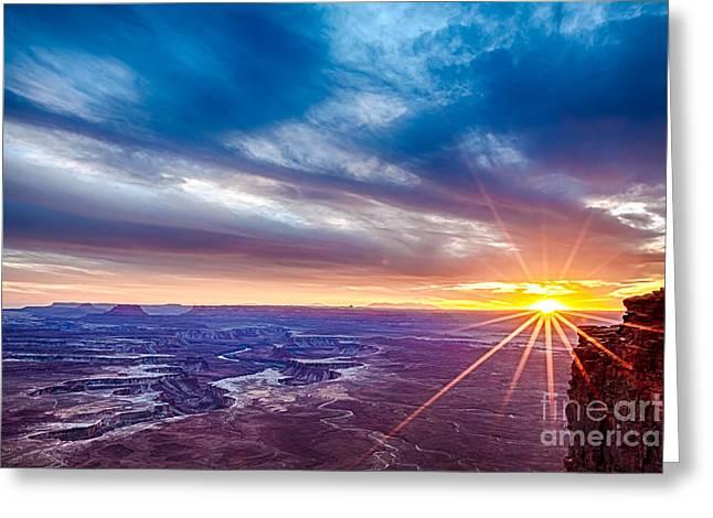 Scotts Scapes Greeting Cards - Luminant Sunset Lucidity Greeting Card by Scotts Scapes