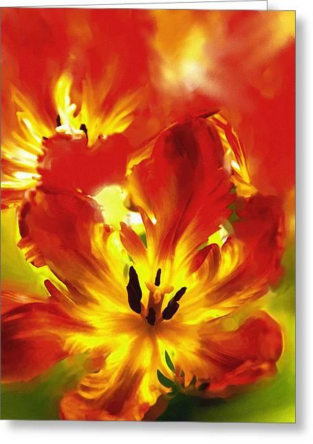 Artistic Photography Mixed Media Greeting Cards - Luminosity Of Nature Greeting Card by Georgiana Romanovna