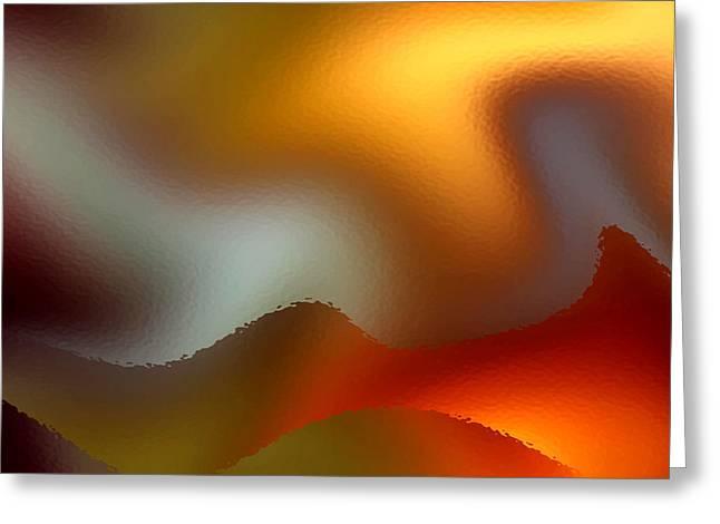 Abstract Waves Greeting Cards - Luminous Waves Greeting Card by Ruth Palmer