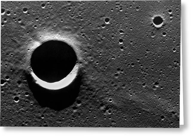 Mare Serenitatis Greeting Cards - Lunar Crater, Apollo 17 Photograph Greeting Card by Detlev Van Ravenswaay