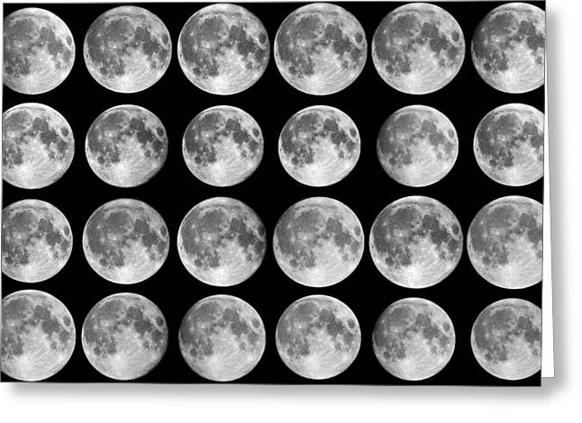 Diameter Greeting Cards - Lunar Libration Sequence Greeting Card by Laurent Laveder