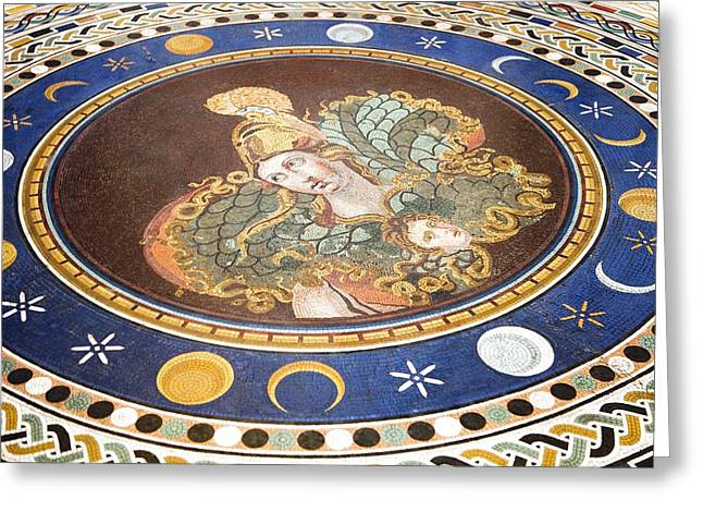 Lunar Phases, 3rd Century Roman Mosaic Greeting Card by Sheila Terry