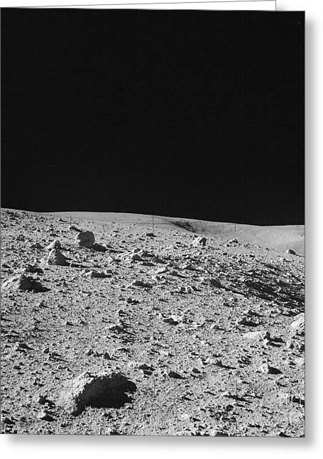 Nameless Greeting Cards - Lunar Surface Greeting Card by Nasa