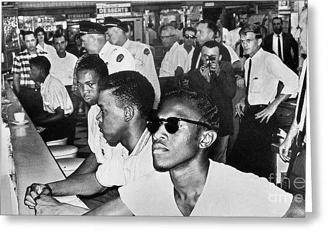 Sit-ins Photographs Greeting Cards - Lunch Counter Sit-in, 1961 Greeting Card by Granger