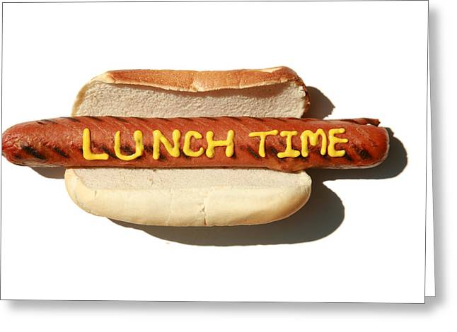 Hot Dog Greeting Cards - Lunch Time Greeting Card by Michael Ledray