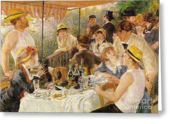 Renoir Greeting Cards - Luncheon of the Boating Party Greeting Card by Extrospection Art