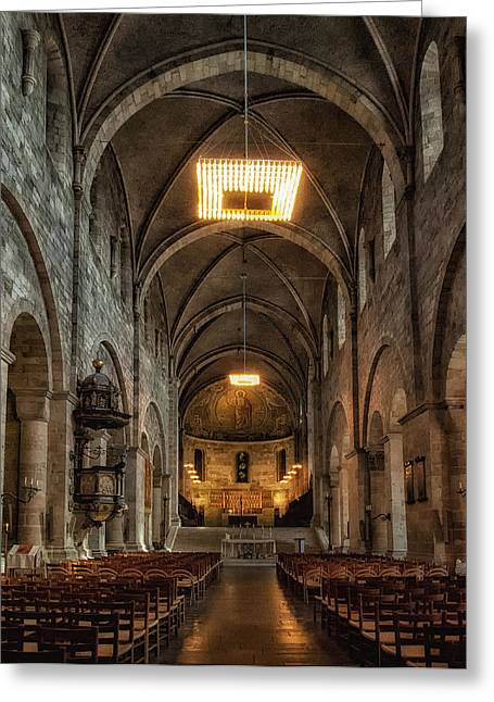 Lund Greeting Cards - Lund Cathedral Greeting Card by Wade Aiken