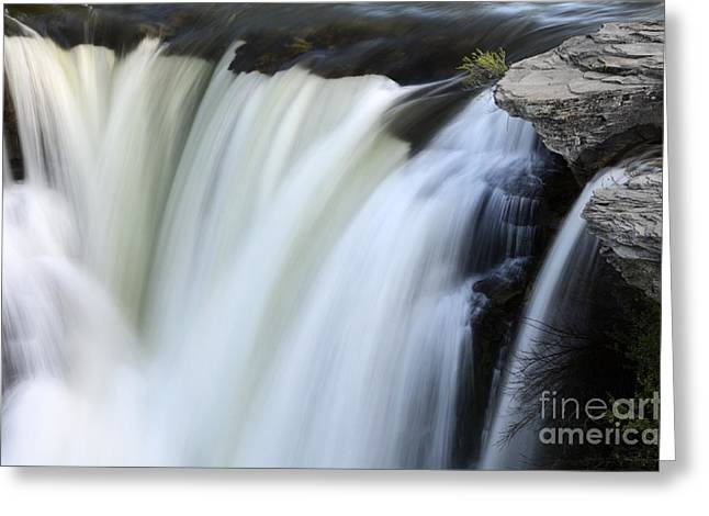 Moving Earth Greeting Cards - Lundbreck Falls Detail Greeting Card by Bob Christopher