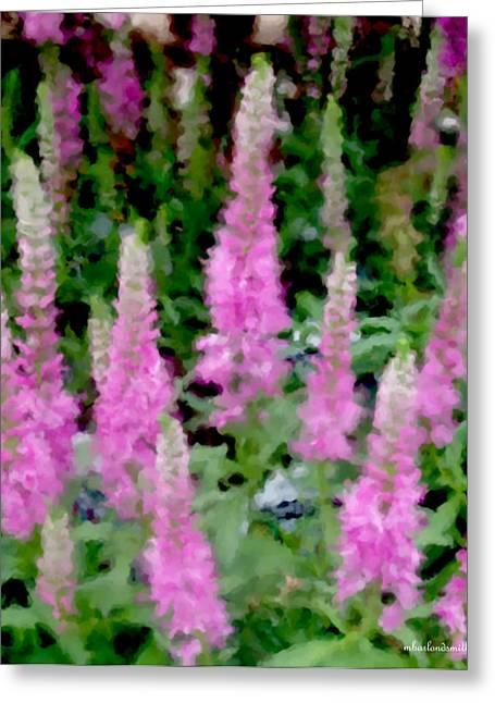 Floral Digital Art Digital Art Greeting Cards - Lupine Impression Greeting Card by Michelle  BarlondSmith