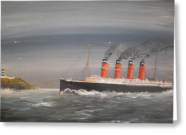Lusitania Off The Old Head Greeting Card by James McGuinness