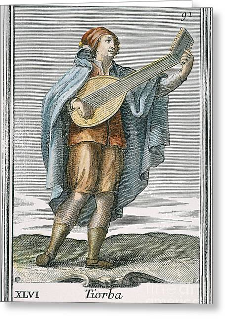 Lute, 1723 Greeting Card by Granger