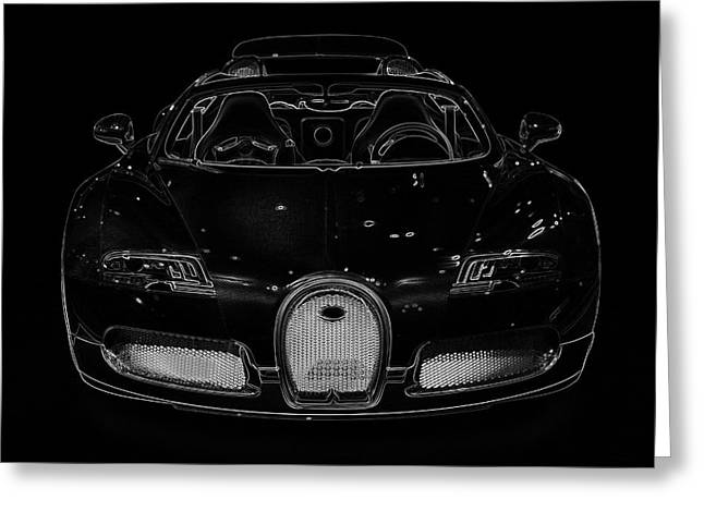 Delux Greeting Cards - Luxury Car Illustration Greeting Card by Radoslav Nedelchev