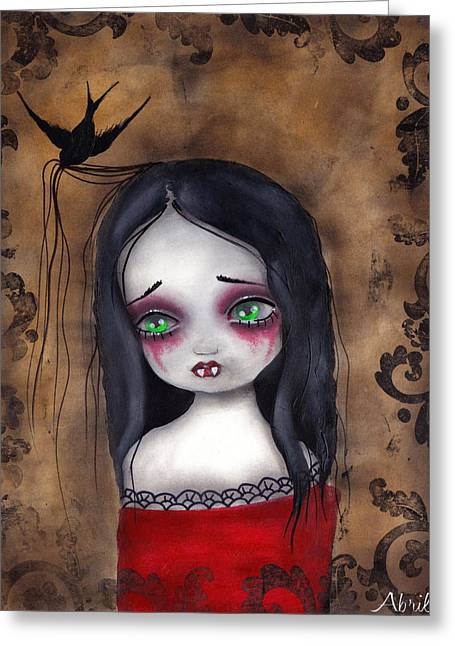 Gothic Surreal Greeting Cards - Luzie Greeting Card by  Abril Andrade Griffith