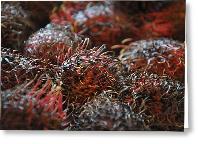 Lychee Greeting Cards - Lychee Fruit 1 Greeting Card by Frank Mari