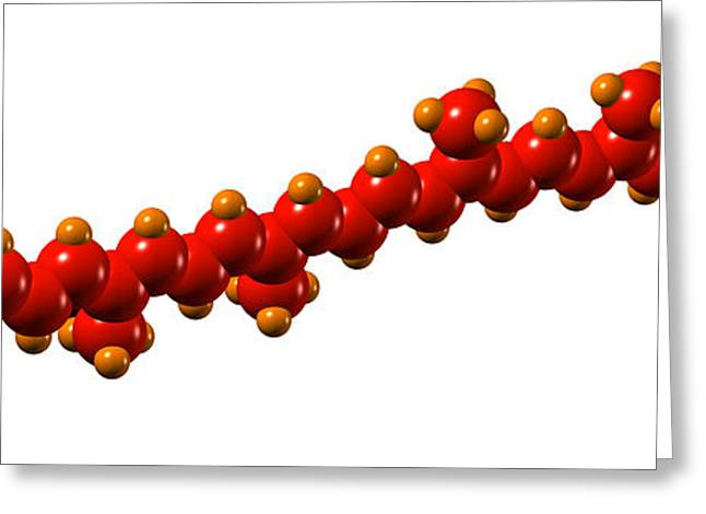 Lycopene Plant Pigment Molecule Greeting Card by Dr Mark J. Winter