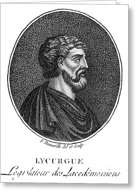 Sparta Greeting Cards - Lycurgus (9th Century B.c.) Greeting Card by Granger