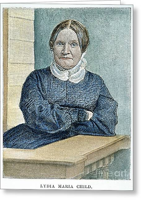 Abolition Photographs Greeting Cards - Lydia Maria Child (1802-1880) Greeting Card by Granger