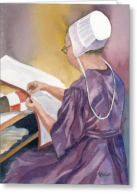 Amish Greeting Cards - Lydia Greeting Card by Marsha Elliott