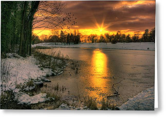 Lydiard Sunset Greeting Card by Terry Walters
