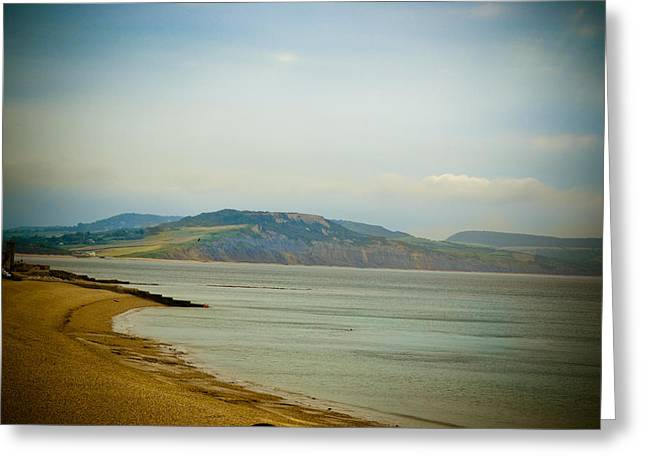 Lyme Regis Beach Greeting Card by Ruth MacLeod