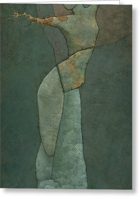 Figurative Sculpture Greeting Cards - Lyras Spell Greeting Card by Steve Mitchell