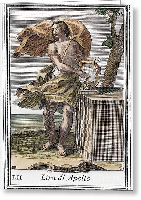 Lyrist Greeting Cards - Lyre Greeting Card by Granger