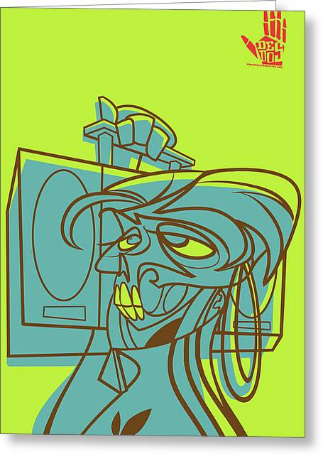 Latino Culture Greeting Cards - Lyte Skeleto Greeting Card by Nelson Garcia