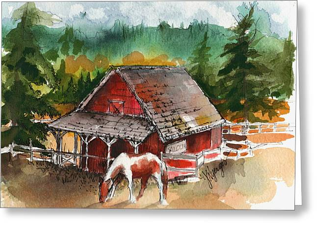 Whidbey Island Wa Greeting Cards - M Bar C Ranch Greeting Card by Judi Nyerges