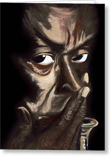 Afrocentric Art Greeting Cards - M D  I Greeting Card by Lawrence Childress