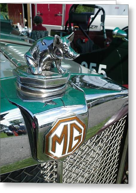 Vintage Hood Ornaments Paintings Greeting Cards - M G Hood 2 Greeting Card by Anna Ruzsan