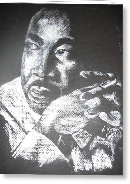 Leaders Pastels Greeting Cards - M. L. King Greeting Card by Vanderbill King
