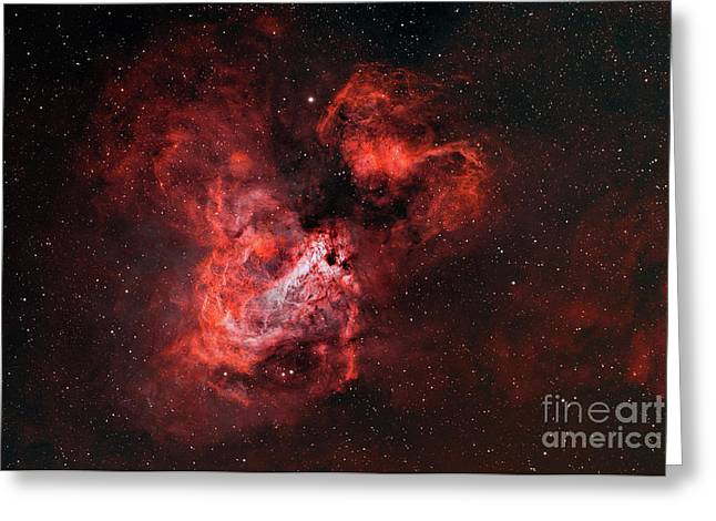 M17, The Omega Nebula Greeting Card by Rolf Geissinger
