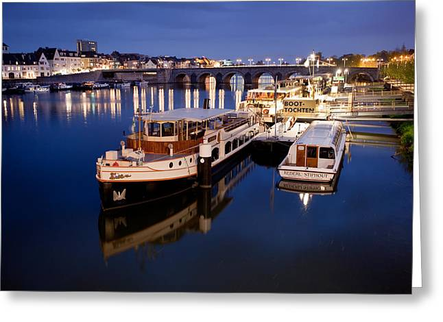 Maastricht Jetty On Maas River Greeting Card by Marc Garrido