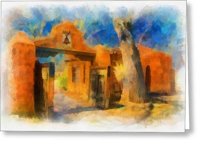 Mabel's Gate watercolor Greeting Card by Charles Muhle