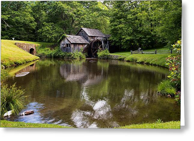 Most Photographs Greeting Cards - Mabry Mill and Pond Greeting Card by Lori Coleman