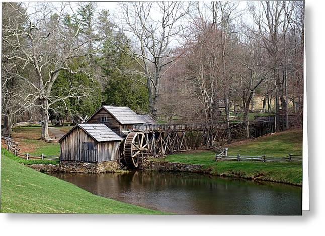 Weels Greeting Cards - Mabry Mill Greeting Card by Jim Goldseth
