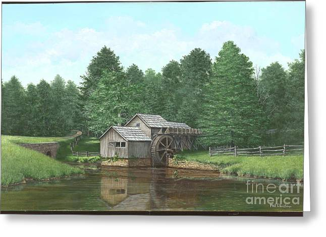 Old Mill Scenes Paintings Greeting Cards - Mabry Mill Summer Greeting Card by Phil Christman
