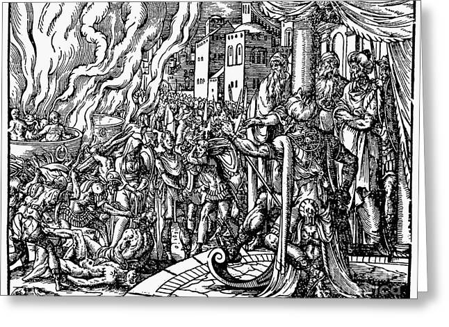 Flavius Greeting Cards - Maccabees: Martyrdom Greeting Card by Granger