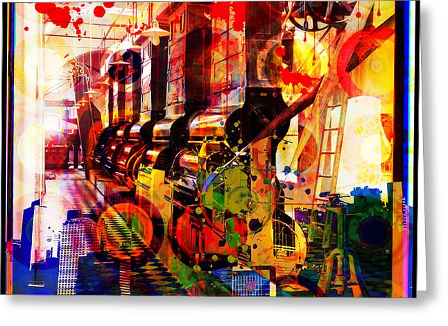 Layers Greeting Cards - Machine Age-1 Greeting Card by Gary Grayson