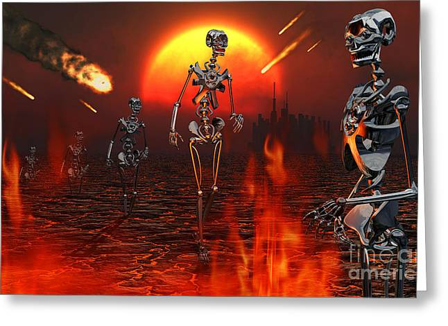 Machines Rise To Take Their Place Greeting Card by Mark Stevenson