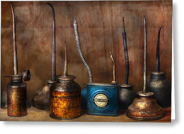 Machinist - Tools - Lubrication Dispensers  Greeting Card by Mike Savad