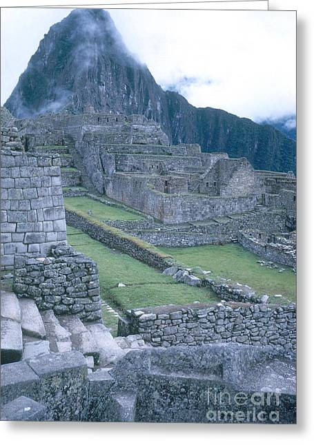 Ancient Ruins Greeting Cards - Machu Picchu Ruins Greeting Card by Photo Researchers, Inc.