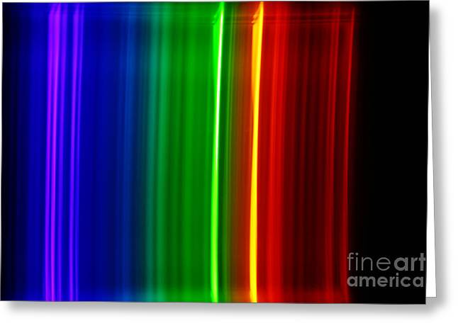 Spectra Greeting Cards - Macro Bromine Spectra Greeting Card by Ted Kinsman
