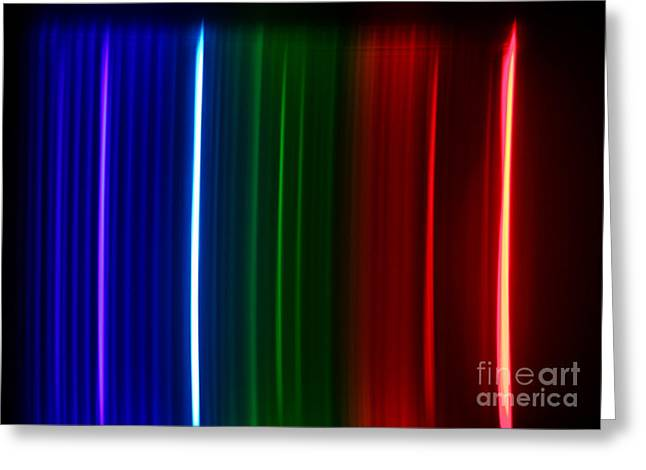 Spectra Greeting Cards - Macro Krypton Spectra Greeting Card by Ted Kinsman