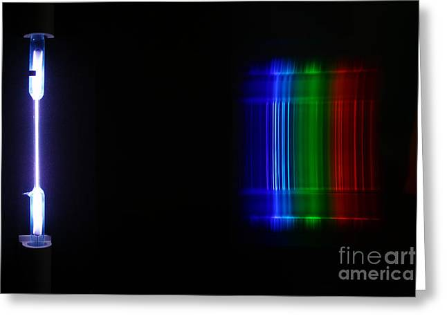 Spectra Greeting Cards - Macro Xenon Spectra Greeting Card by Ted Kinsman