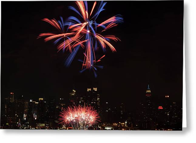 Macy's Fireworks II Greeting Card by David Hahn