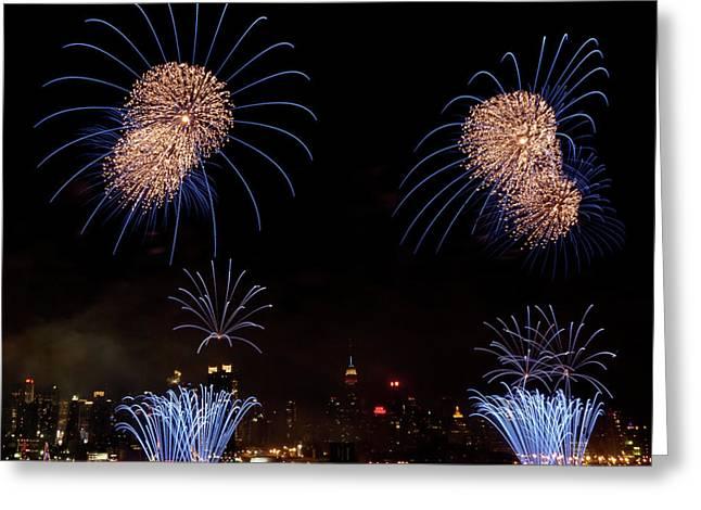 4th July Greeting Cards - Macys Fireworks III Greeting Card by David Hahn