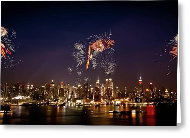 4th July Greeting Cards - Macys Fireworks IV Greeting Card by David Hahn